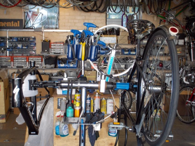 S-works Project Black and Hercules at Velowood Cyclery, 1229 E Sixth, Denver - 2013-10-22